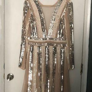 ASOS sequin embellished dress